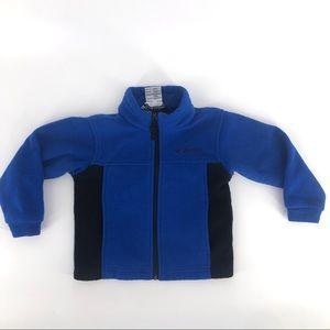 Columbia zip up fleece jacket size 4T blue